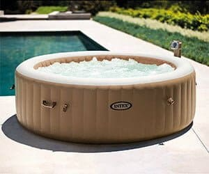 intex purespa 85in portable inflatable spa