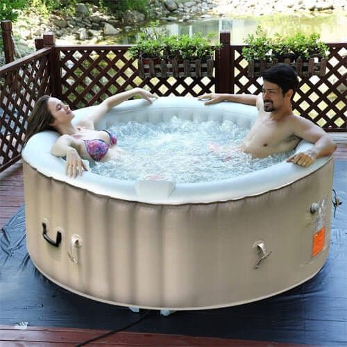 Goplus inflatable hot tub