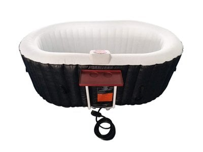 aleko htio2bkw oval inflatable hot tub spa