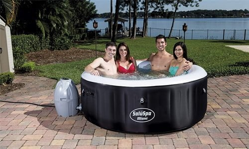capacity and volume of the inflatable hot tub