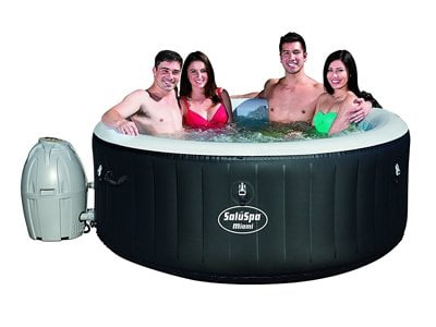 saluspa miami-airjet inflatable hot tub