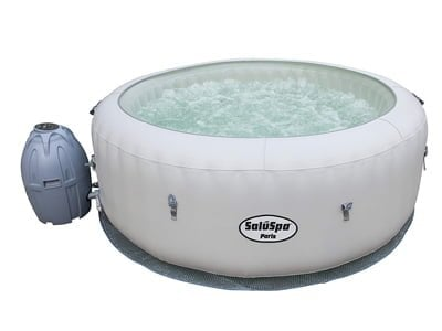 saluspa paris airjet inflatable hot tub w/ led-light